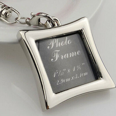 Mini Creative Metal Alloy Insert Photo Picture Frame Keyring Keychain Gift