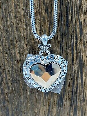 Rosy Heart Crystal Necklace