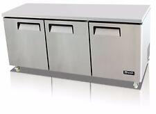 Migali C U72r Hc Commercial Three Door Undercounter Refrigerator