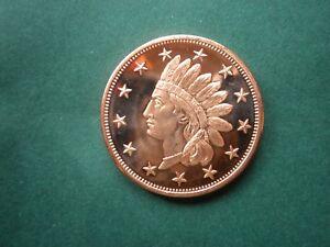 Bullion 1877 Indian Head Cent #2 1oz Copper Round