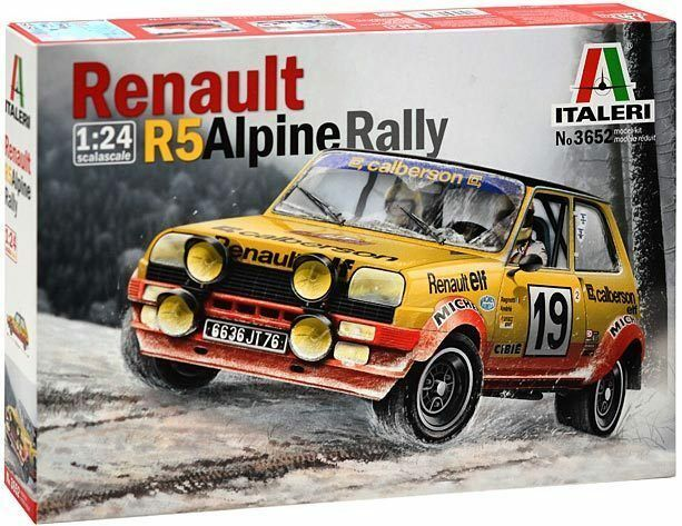 Sports Car 1 24 Italeri 3652  RENAULT R5 Alpine Rally