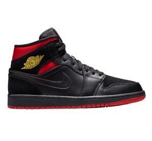 Air Jaune 1 Mid Last 076 10 191885437910 554724 Chaussures Jordan Noir Tour Rouge Taille Hommes 5 Shot 6Ygy7bfv