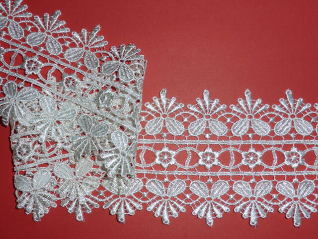 """PRIVATE LISTING FOR mahbutterfly 3 mtrs Ivory Venise Guipure Lace Trim 3""""/8cm"""