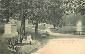 Private-Mailing-Card-Baltimore-MD-John-L-Chrise-039-Spring-Druid-Hill-Park-Unposted