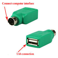 2X USB Female in to Male Adapter Converter for PS2 Computer Keyboard Mouse U1