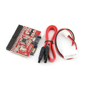 Cable Length Red Computer Cables IDE to SATA Serial-ATA Bilateral HDD Adapter Converter Card ATA 100//133 Power Cable