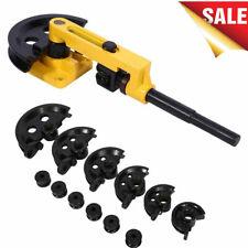 Manual Pipe Tube Bender Set 38 12 916 58 34 78 1 With 7 Dies Tool Kit