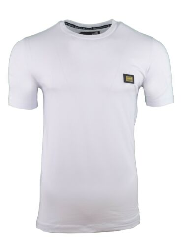 BNWT LOVE MOSCHINO METAL CHEST BADGE T-SHIRT SLIM STRETCH MUSCLE FIT WHITE