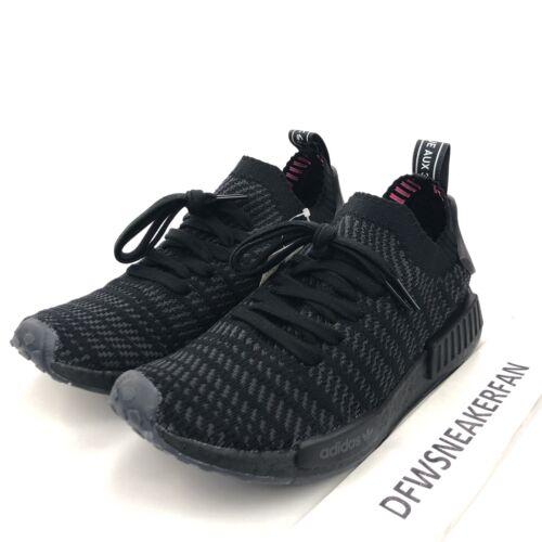 new style 9a340 940b4 Black Adidas Cq2391 Mäns Nmd Boost Stlt R1 Shoes Triple Ny Primeknit Pk 9  wCSwF8qZ