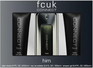 1c803efbf7d FCUK Connect Him Set 3pk Eau De Toilette Spray Gift Set for Him ...