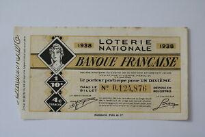 FRANCE-LOTERY-TICKET-1938-B20-BK138