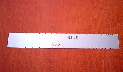 G.M.I dual fret scale template for 24.75''-25.5'' scales