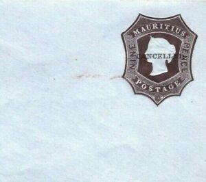 MAURITIUS-Specimen-QV-Cover-9d-Embossed-CANCELLED-Stationery-Envelope-MA289