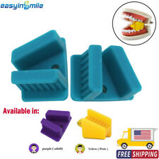 Easyinsmile Dental Bite Block 2pcs Autoclavable Silicone Mouth Props Adultchild