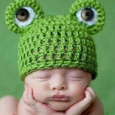 Newborn Babys Girl Boys Crochet Knit Costume Photo Photography Prop Outfits frog