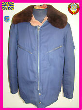 Sz.54 Original Soviet military FUR JACKET Air Force USSR Russian Pilot MiG Su