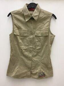 Dolce-amp-Gabbana-Women-s-Sleeveless-Shirt-Size-XS