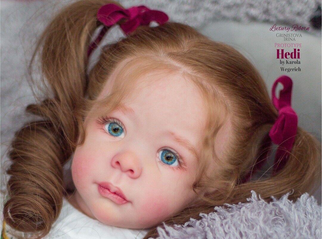Hedi por Karola Wegerich Muñeca Reborn Baby Toddler Kit@LE555 @ 24  @ cuerpo incluyen