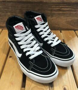 Details about Vans Sk8-Hi Black White Skate Sneakers - Men's Size 4 / Women's 5.5 VN000D5IB8C