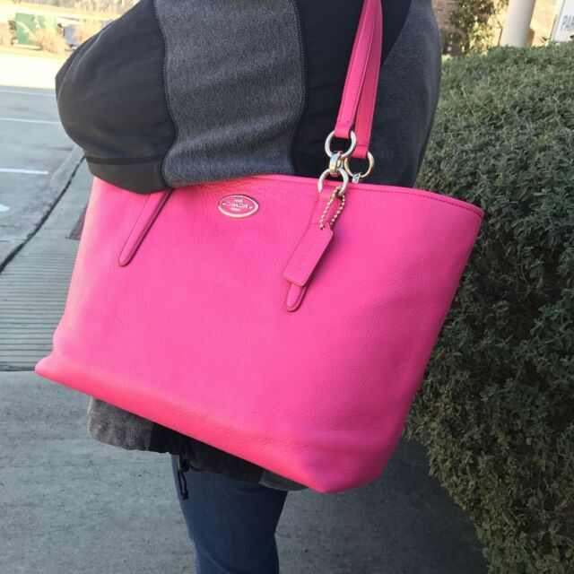 d711c5c1a2da Coach 33961 Chicago Ellis Pebbled Leather Tote Pink Ruby for sale ...