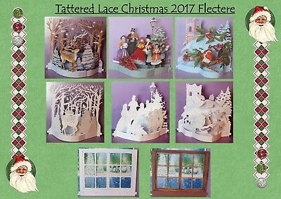 NEW x3 Full Sets Tattered Lace Christmas 2017 Flectere Die Cut Sets//Pick /'N Mix