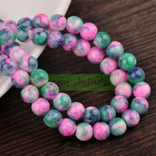 Bulk Coated Colorful Round Loose Crystal Glass Spacer Beads 6mm 8mm 10mm 12mm