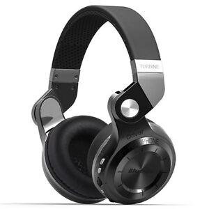 Neuf Bluedio T2+ Casque Bluetooth 4.1 Sans fil Stéréo Écouteur FM SD carte Noir
