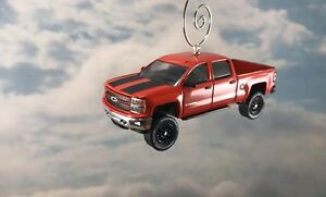 Chevy Silverado Rally Edition >> Details About 15 Chevy Silverado 1500 Rally 2 Lifted Crew Cab Pickup Christmas Ornament 1 64