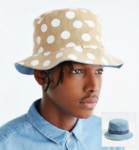 Image is loading NEW-Urban-Outfitters-Rosin-reversible-bucket-hat-denim- e86256e8ac7e