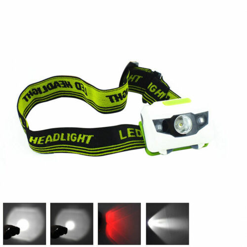 XML R3 2 LED Stirnlampe Kopflampe 18650 Akkus Scheinwerfer Headlight 900LM Q1E6