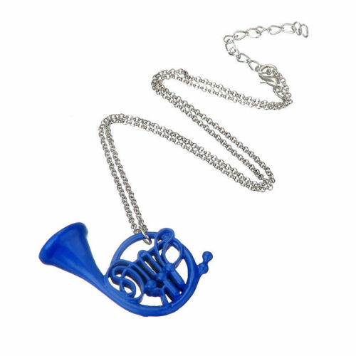 HIMYM How I met your mother jaune parapluie bleu French Horn Collier Pendentif