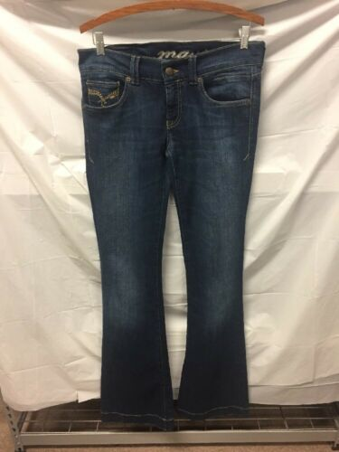 Mavi Womens Blue Jeans Sz 2 (29/38) TALL LOW RIDER