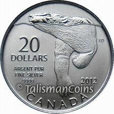 Canada 2012 Polar Bear Swimming $20 Commemorative Pure Silver Specimen