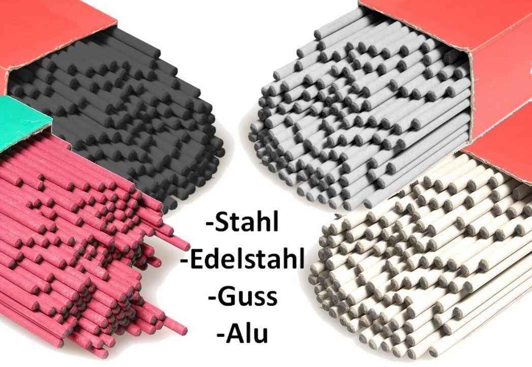 Schweiß - Elektroden - Set  Edelstahl   Guss   Alu   Stahl für ø 2,5 oder 3,25mm