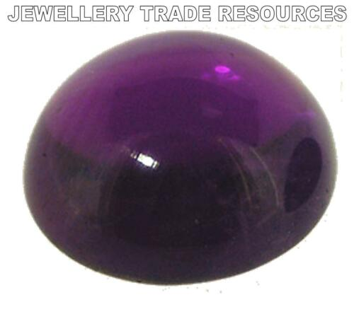 2.75mm Natural Amethyst Deep Purple Round Cabochon Gem Gemstone