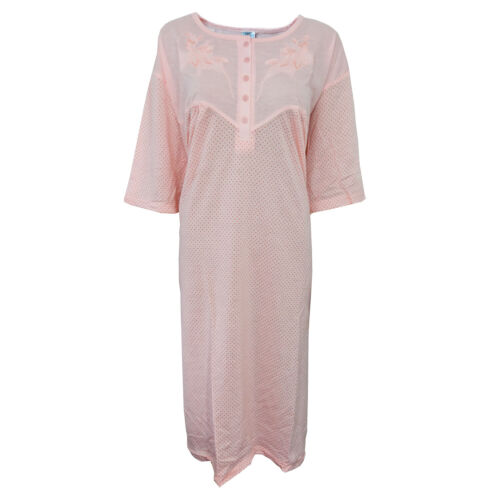 i-Smalls Ladies Cool Cotton Short Sleeve Nightdress Plus sizes 3XL-6XL