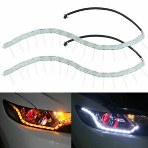 Running Switchback Flexible  Turn Signal Lamp LED Strip Car DRL Light Flowing
