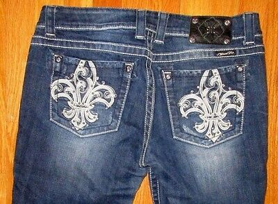 Clothing, Shoes & Accessories Jeans Motivated Miss Me Boot Cut Jp5110b3 Embellished Rhinestones Studs Dk122 Designer Jeans 31