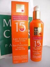 MARY COHR LAIT SOLAIRE SUN PROTECTION LOTION SPF FPS 15 VISAGE ET CORPS MOYENNE