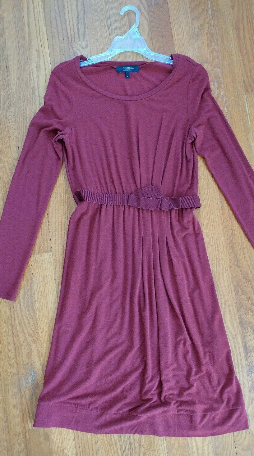 Max Mara Dress M 4 6 Jersey Bordeaux Purple Red