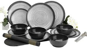 Image is loading Outdoor-Dining-Dinner-Set-Melamine-Plates-Bowls-C&ing-  sc 1 st  eBay & Outdoor Dining Dinner Set Melamine Plates Bowls Camping Picnic ...