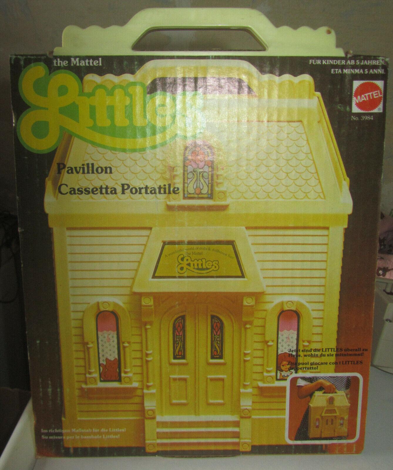 The Littles Play e autory  House Casa Valigetta Mattel 3984 anni 70  contatore genuino