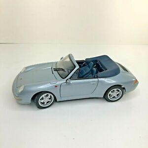 Maisto-Diecast-Car-1-18-Porsche-911-carrera-Cabrio-1994-Azul-Metalico