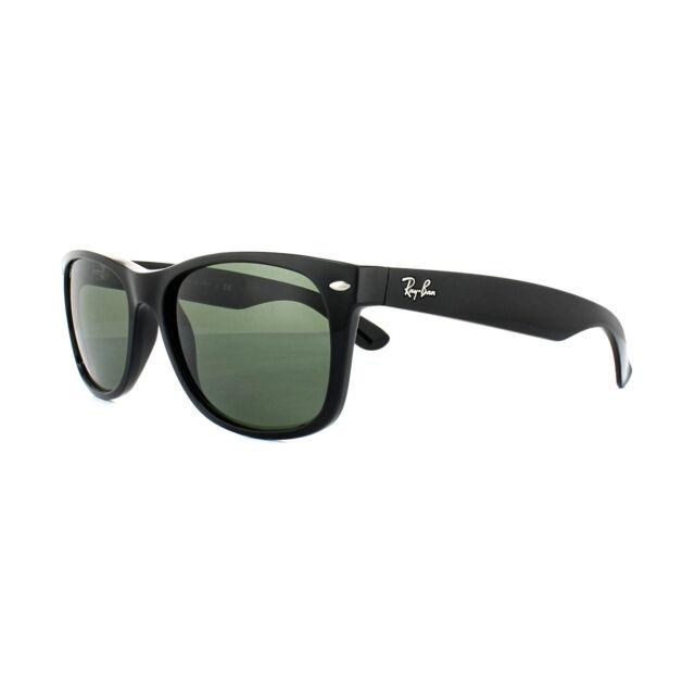 52d041c654 Ray-Ban Sunglasses New Wayfarer 2132 901 Gloss Black Green G-15 Large