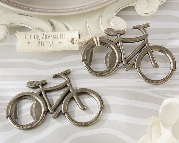 75 Let's Go On An Adventure Bicycle Bottle Opener Wedding Shower Party Favors