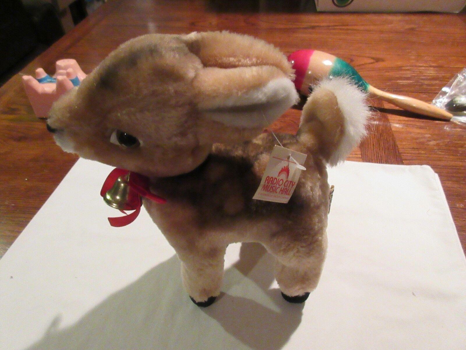 Stuffed Animal,Reindeer, 12/7/1989, From Radio City Mus