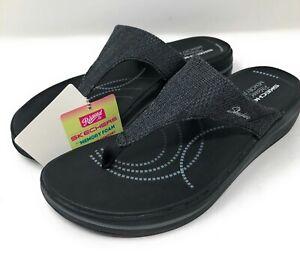skechers relaxed fit memory foam womens sandals