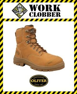 3204ed61eb7 Details about Oliver AT55 Series Nubuck Leather Safety Lace Up Ankle Boot  55332 NEW IN BOX!