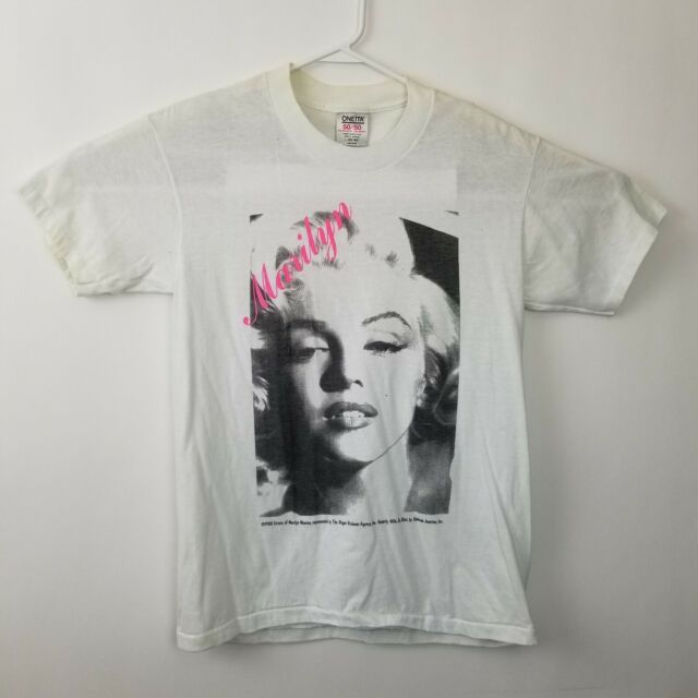 Marilyn Monroe Red Lips Women/'s T-Shirt Bombshell Pinup Starlet Hollywood Tee