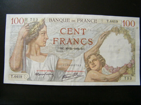 100 Francs Sully DéLicieux Dans Le GoûT